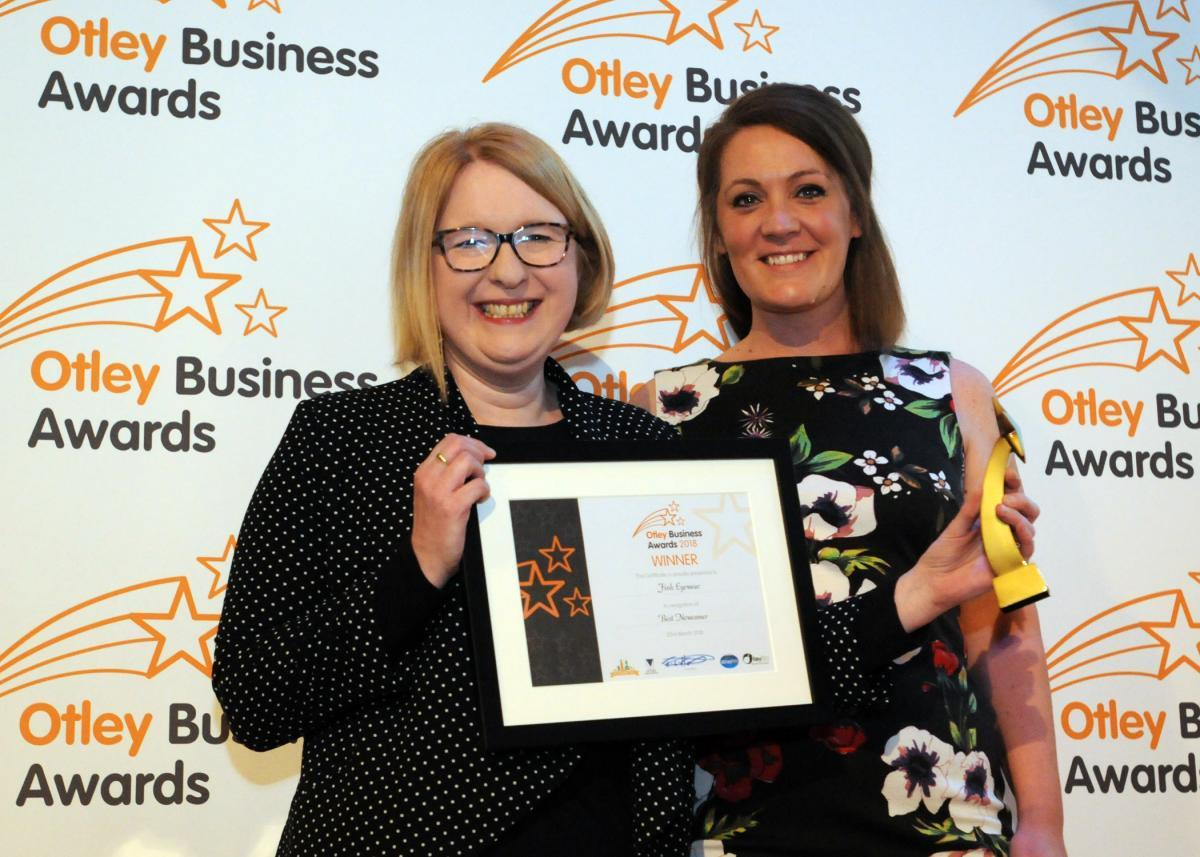 Fink Eyewear - winners of the Best Newcomer category at last year's Otley Business Awards. Winpenny Photography, Otley
