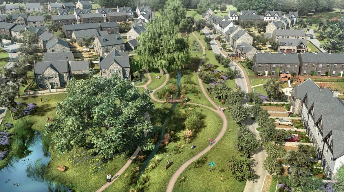 An artist's impression of the development in Sun Lane, Burley-in-Wharfedale.