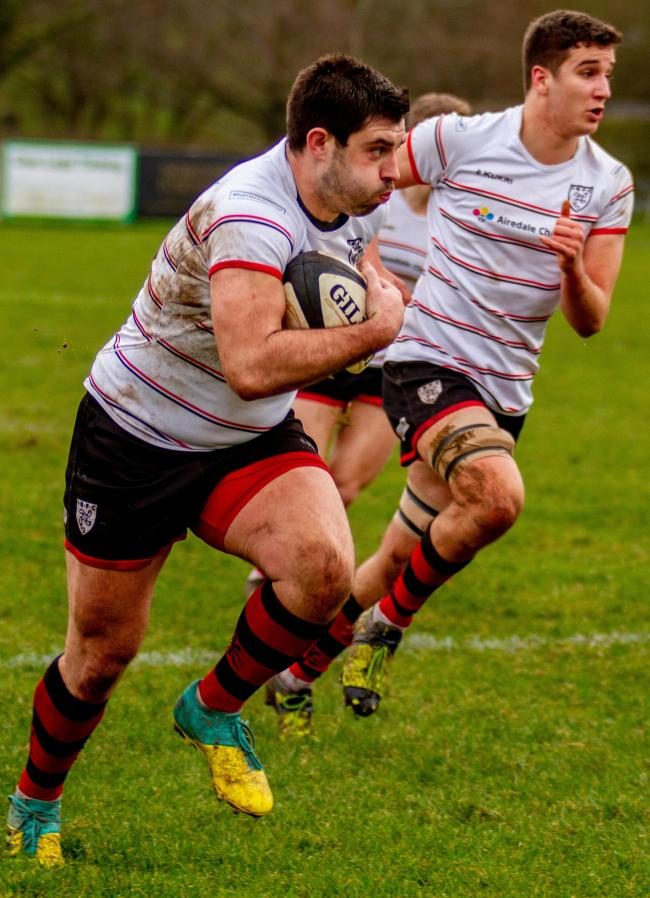 JH Johnson scored two tries for Ilkley at Alnwick. Picture: ruggerpix.com