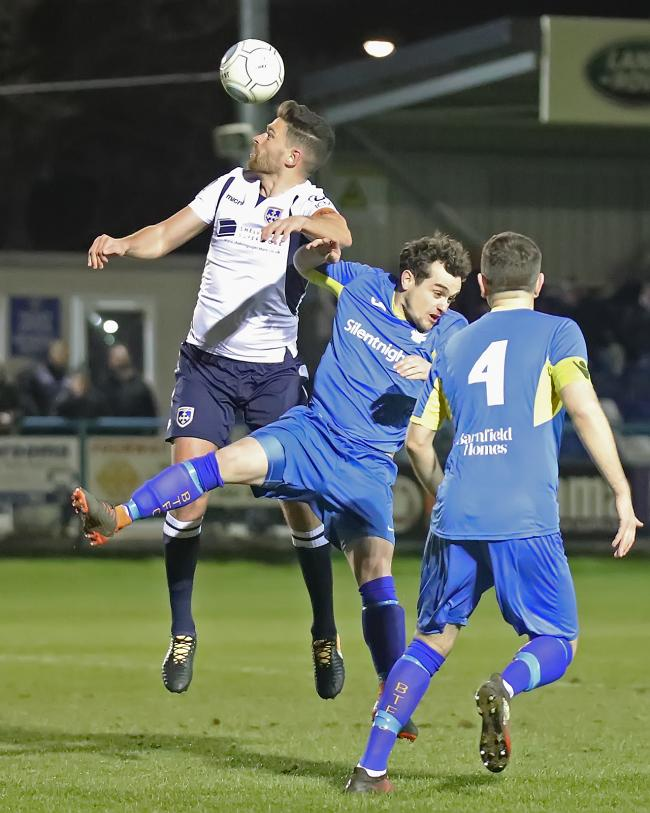 Guiseley captain Scott Garner (left) has departed the club to join Boston United Picture: Alex Daniel Photography