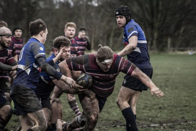 Simon Hill scored a late try for Aireborough