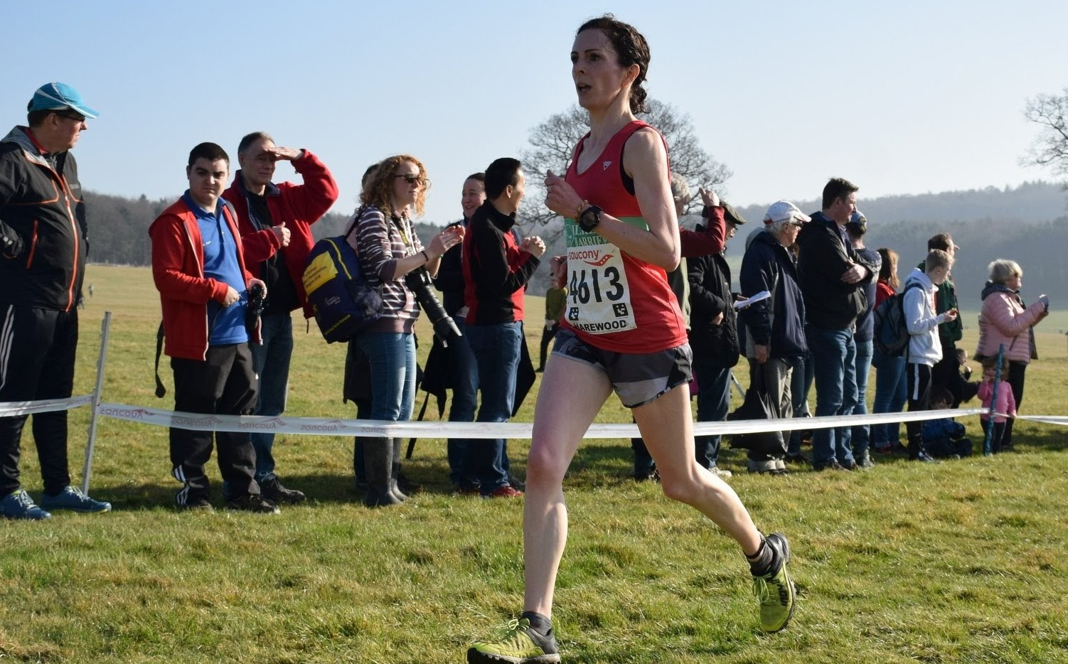 Ilkley Harrier Helen Thurston was the first lady home at the Evensplits 5km. Picture: Dave Woodhead