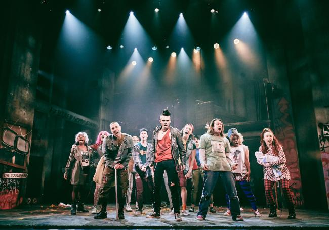 The cast of American Idiot, UK tour. Mark Dawson Photography