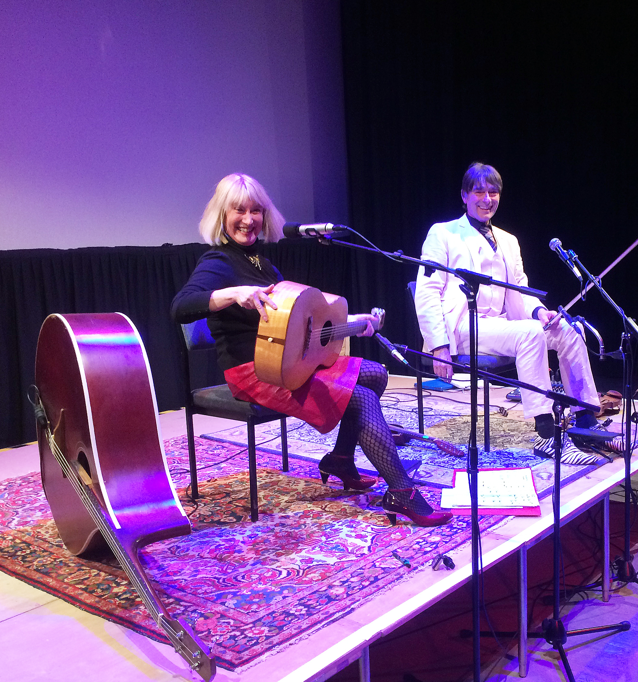 Hilary James and Simon Mayor at the Wildman Theatre, Ilkley Playhouse on March 10, 2019