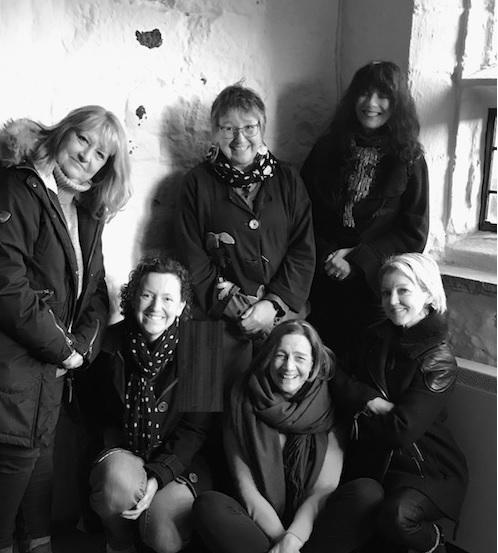 Some of the organizing artists.  Pictured from left to right:  Linda Dewart, Joanne Tinker, Carolyn Hird-Rogers, Kerry J Stoker, Philippa Hamilton, Helen Brayshaw.