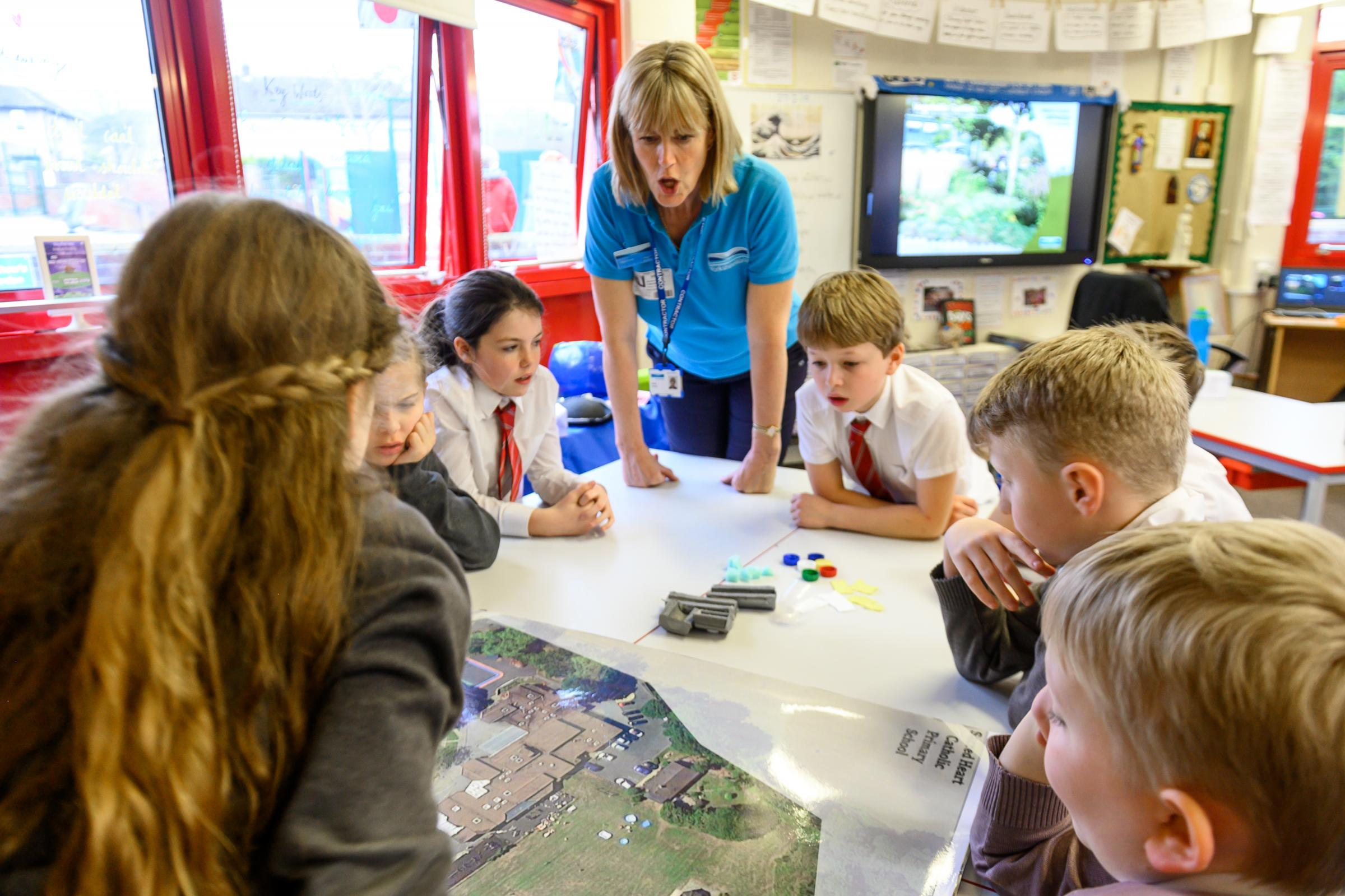 Yorkshire Water's Soak if Up team visit Sacred Heart Primary School in Ilkley