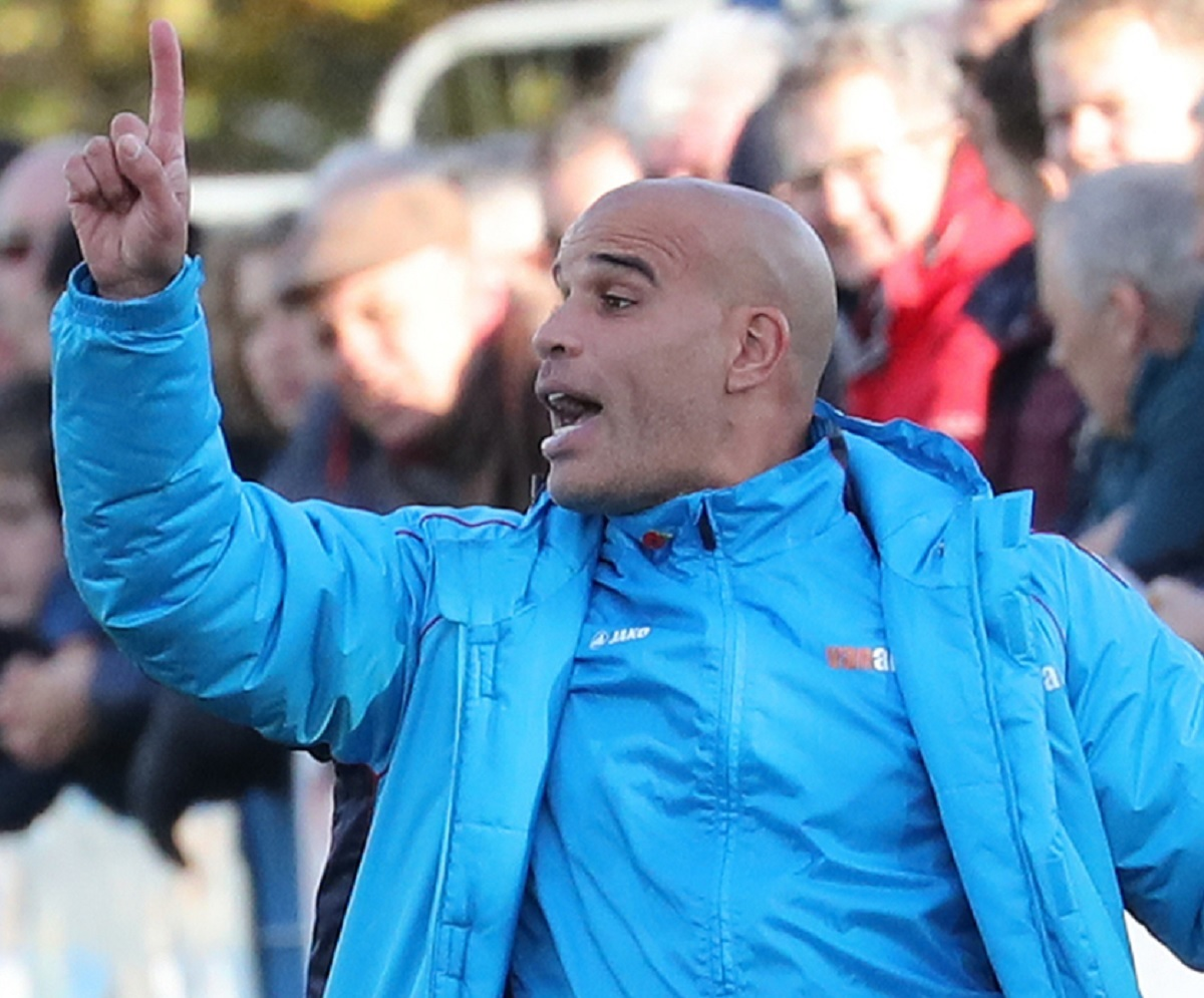 "Guiseley joint-manager Marcus Bignot wants his side to ""apply themselves properly"" in the last five games of the season. Picture: Alex Daniel Photography"