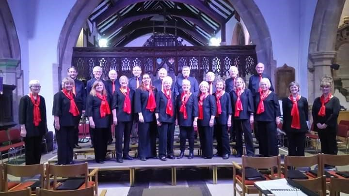 Preparing to perform as part of the 2018 Otley Christmas Tree Festival - The Chippendale Singers.