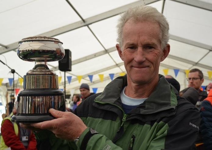 John Armistead of Otley AC won the men's V60 section of the Three Peaks Race on Saturday. Picture: Dave Woodhead