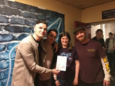 Anna Prosser meets The Script