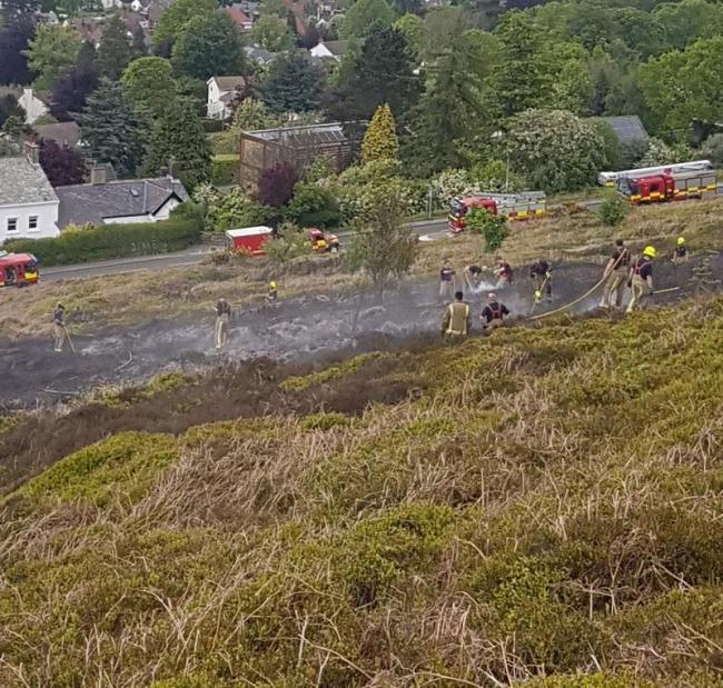 A fire on Ilkley Moor on May 18, 2019. Picture: West Yorkshire Fire and Rescue Service