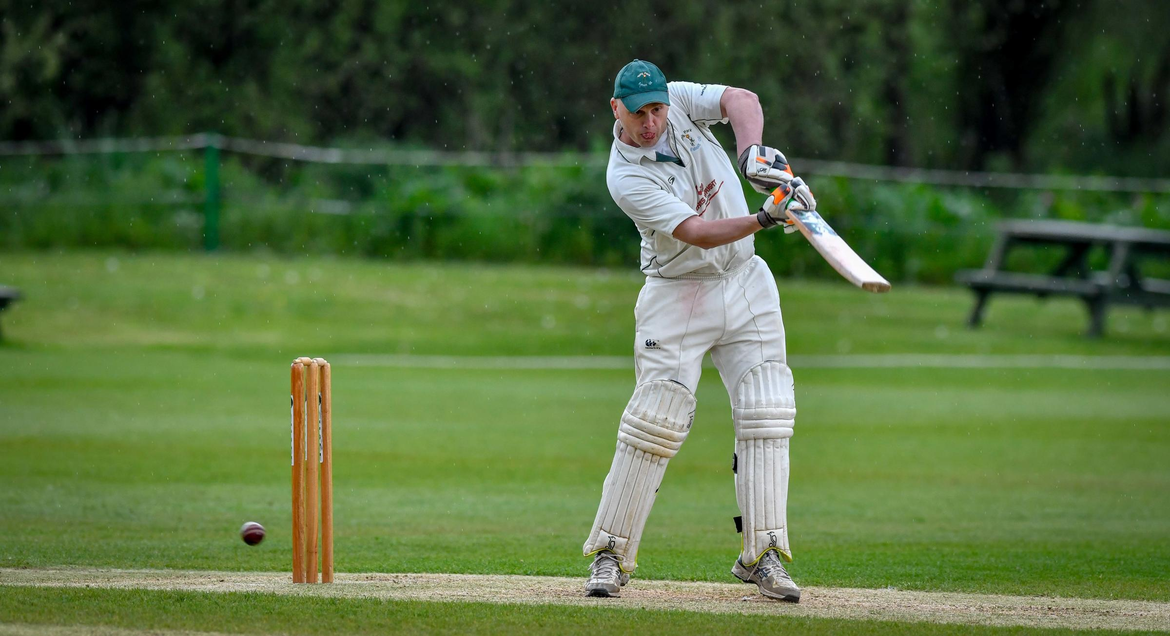 Daniel Groom bats for Tong Park Esholt against Saltaire on Saturday. Picture: Andy Garbutt