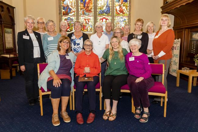 Burley in Wharfedale Dementia Action Group with Wendy Mitchell, centre left and Nicky Taylor, centre right, front row:  Ian Lamond Photography.