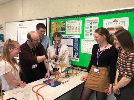 Students at Ilkley Grammar School prepare for the Royal Society Summer Exhibition