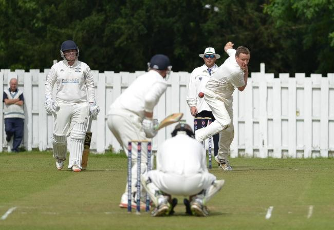 Nick Brook, pictured here bowling, helped Burley earn a semi-final berth in the T20 TB Cup