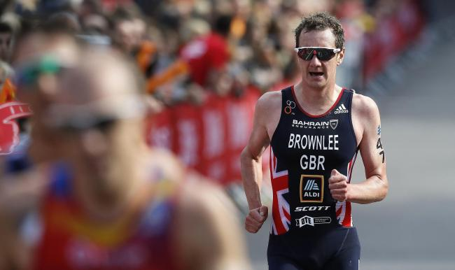 Great Britain's Alistair Brownlee finished down the field in the 2019 ITU World Triathlon Series Event in Leeds. Picture: Martin Rickett/PA Wire